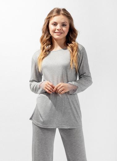 Katia & Bony Silver Line Secret Kadın Pijama Takımı  Gri
